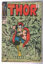 Thor #154 (Jack Kirby/Vince Colletta) Silver Age-Marvel Comics Fn- {Generations}