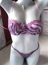 Women's Sexy Purple Zebra Bra  Size 34B & Matching Thong Size M Set