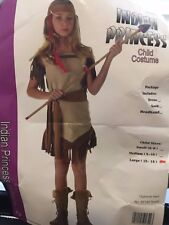 Girls Native American Indian Princess Costume Childs Large 10-12 Gently Used