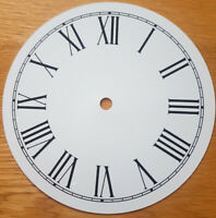 NEW - 7 Inch Clock Dial Face - White - 177mm Roman Numerals - DL19