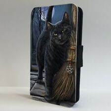 Black Cat Salem Witches Broom FLIP PHONE CASE COVER for IPHONE SAMSUNG