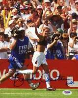 Brandi Chastain Psa Dna Coa Autographed 8x10 Photo Authentic Signed