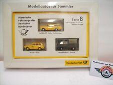 """VW 1500 / VW T1 / Opel Rekord P1 """"Historische Fahrzeuge DBP"""", Brekina 1:87, OVP"""