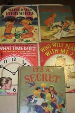 4pc Vintage Wonder Books Its Secret Play With Me Bibbsey Twins What Time Is It