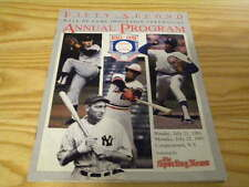 1991 Rod Carew Gaylord Perry Fergie Jenkins Hall of Fame Induction Program WD