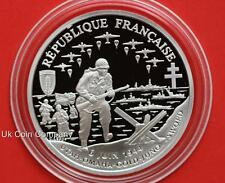 1993 Republique Francaise 50th Anniversary 1 Franc Silver Proof Coin & Coa