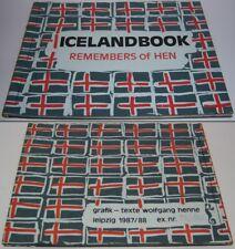 Wolfgang Henne   Icelandbook  Remembers of Hen  Leipzig 1987