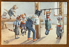 A/S Arthur Thiele, Dressed Cats Exercise in a Gymnasium, PM 1914