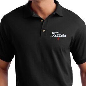 Titties Golf Shirt PGA Bachelor party Gift - Embroidered Polo Shirt