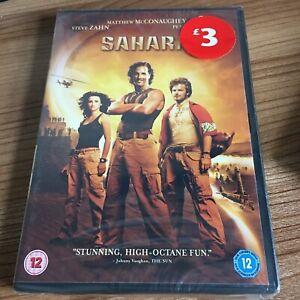 Sahara DVD (2005) NEW/SEALED Matthew McConaughey Cert 12 Region 2 UK Great Value