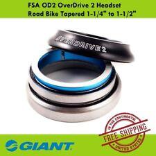 "Giant FSA OD2 OverDrive 2 Headset Road Bike Tapered 1-1/4"" to 1-1/2"""