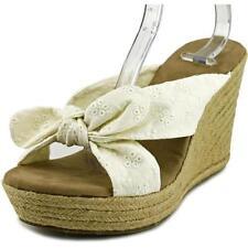 Sandali e scarpe bianche tessile zeppa per il mare da donna