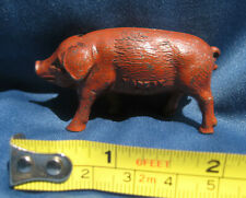 Vintage Die Cast METAL TOY PIG Painted Reddish Brown Marked 252 Made in USA
