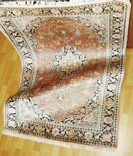 100% verdadera alfombra Carpet Rug handgeknüpfte + + cachemira + seda/Silk + como nuevo + Top/Ware