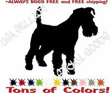 Schnauzer Mini Giant Terrier Dog Vinyl Decal Sticker for Car Window Laptop Crate