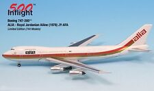 Alia Royal Jordanian Airline JY-AFA 747-200 Airplane Miniature Model Metal Die-C