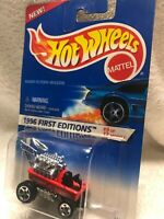 Vintage 1996 Hot Wheels 374 First Editions 9/12 RADIO FLYER WAGON Red Hot Rod