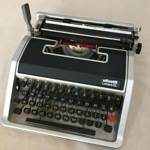 Rare Olivetti Lettera DL Vintage Typewriter With Case Working Good Condition