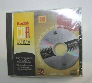 KODAJ CD-R ULTIMA 700MB 80 min 52x Disc for Data Photo Video Music SEALED NEW