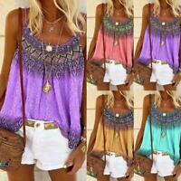 Women Summer Loose Casual Vest Tank Tops Sleeveless Boho T-Shirt Blouse G0Y5