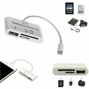 3 in1 USB SD Card Reader Micro Camera Connection Adapter Reader for iPad iphone