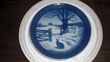 1971 Royal Copenhagen Hare in Winter Collectible Plate