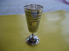 VTG ANTIQUE RUSSIAN MOSCOW IMPERIAL SOLID STERLING LIQUEUR GOBLET ONE OF A KINE