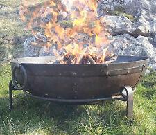 80cm Indian Fire Pit - Garden Bowl Hand Made Kadai Karahi Large Wrought Iron