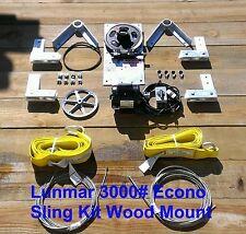 Lunmar 3000# ECONO Sling Kit Wood Mount