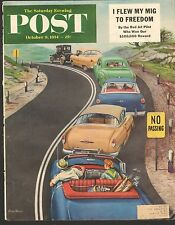 OCT 9 1954 -  (COVER ONLY) SATURDAY EVENING POST MAGAZINE - TRAFFIC JAM CARS