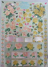 Dufex Decoupage Freestyle Roses and Elements for card making-scrapbooking-