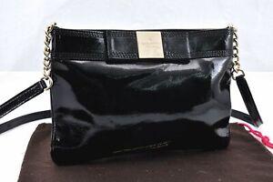 Authentic Kate Spade Shoulder Bag Leather Black 94989