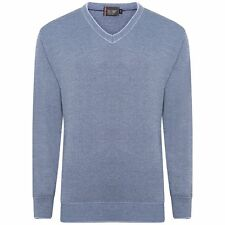 NEW MENS WOOL V NECK JUMPER PULL OVER LONG SLEEVE PLAIN KNITTED BIG PLUS SIZE