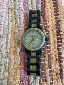 Original Grain Watch The OG Classic Made With Natural Wood Running W/New Battery