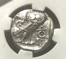 393- 294 BC. SILVER ATTICA ATHENS TETRADRACHM ATHENA OWL NGC XF
