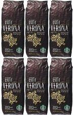 Starbucks (6-Pack) Caffe Verona Roast Whole Bean 1lb Dark Roast Coffee BBD 11/20