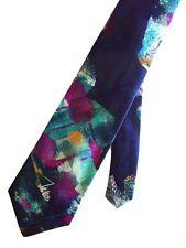 """John Weitz Men's Poly Novelty Neck Tie Multi-Color Absract 3 3/4"""" x 56"""" Short"""