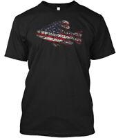 Crappie Fishing Fish Flag Hanes Tagless Tee T-Shirt