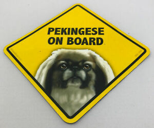 Pekingese Dog On Board Magnet Laminated Car Pet Magnet NEW 6x6