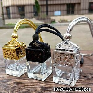 10x Empty Car Perfume Bottle Diffuser Air Freshner Gadget Mini Ornament Hanging