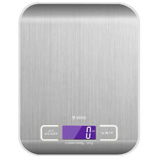 LCD Digital Kitchen Scales Stainless Steel Electronic Cooking Weighing Food