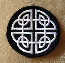 CELTIC KNOT Irish Pride Iron-on Patch! Goth/Emo/Black and White/Motorcycle/Biker