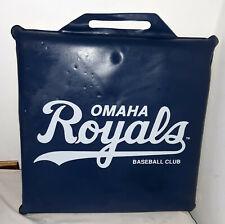 Vintage Omaha Royals stadium bench pad cushion seat Wilson Hot Dog Ad
