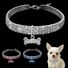 Crystal Dog Necklace Collar Rhinestone Bling Puppy Diamond Pet Pendant Chain Cat