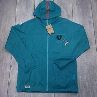 Burton Portal Lite Packable Rain Windbreaker Hooded Jacket Mens Medium Green