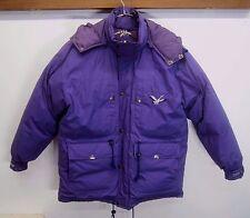 vtg Triple Fat Goose Puffer Parka Coat down fill purple hooded thick sz XL