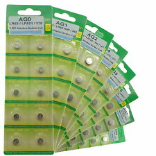 Battery All Types Ag0 to Ag13 1.5v Button Coin Cell Alkaline Watch Calculator