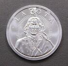 Lakota Crazy Horse 1 oz .999 Fine Silver Round Buffalo Free Independent Nation
