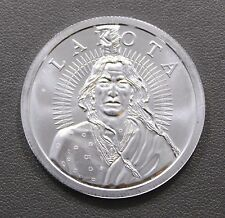 Lakota Crazy Horse 1 oz .999 Fine Silver Round Buffalo Free Independent Nation