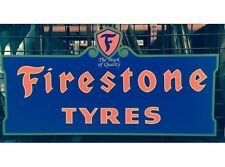 NEW Firestone Tyres tin metal sign
